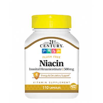 Niacin Inositol Hexanicotinate 500 мг 110 капсули | 21st Century