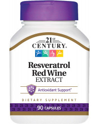 Resveratrol Red Wine Extract 90 капсули | 21st Century