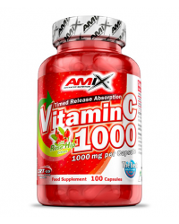 Vitamin C with Rose Hip 1000 мг 100 капсули | Amix