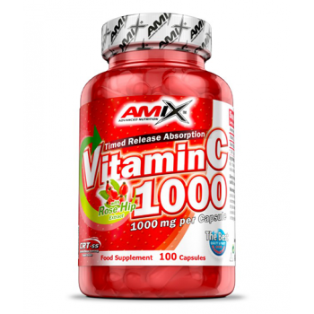 Vitamin C with Rose Hip 1000 мг 100 капсули   Amix