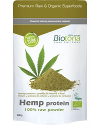 Hemp Protein 100% Raw Powder 300 gr BioTona