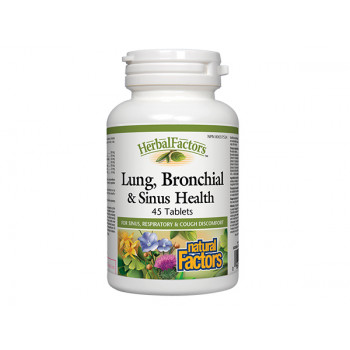 Lung, Bronchial & Sinus Health 650 mg 45 tablets Natural Factors