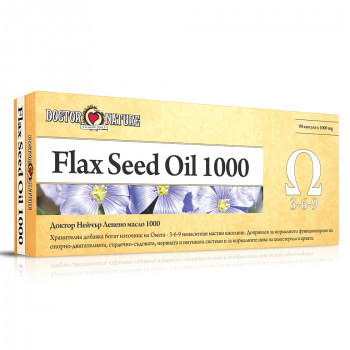 Flax seed Oil 1000 1000 мг 90 капсули | Doctor Nature