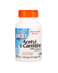 Acetyl-L-Carnitine 500 мг 60 веге капсули | Doctor's Best