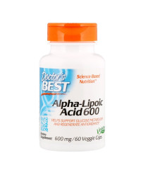 Alpha-Lipoic Acid 600 мг 60 веге капсули | Doctor`s Best