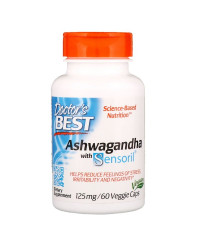 Ashwagandha With Sensoril 125 мг 60 веге капсули | Doctor's Best