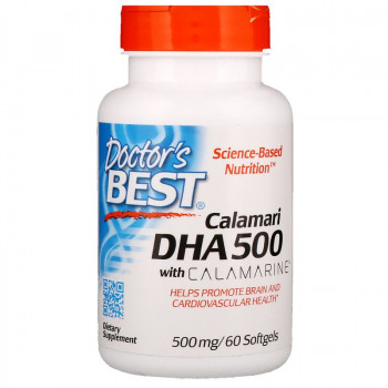 Calamari DHA 500 With Calamarine 500 мг 60 гел-капсули | Doctor's Best