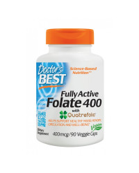 Fully Active Folate (Метил Фолат) 400 мкг 90 вегетариански капсули | Doctor's Best