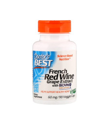 French Red Wine Extract 60 мг 90 веге капсули | Doctor's Best