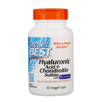 Hyaluronic Acid + Chondroitin Sulfate 60/180 веге капсули | Doctor's Best