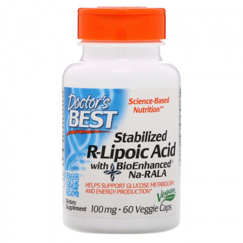 Stabilized R-Lipoic Acid 100 мг 60 веге капсули | Doctor's Best