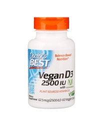 Vegan Vitamin D3 with Vitashine D3 2500 IU 60 веге капсули | Doctor's Best