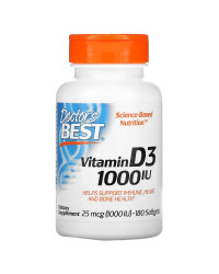 Vitamin D3 1000 IU 180 гел-капсули | Doctor's Best