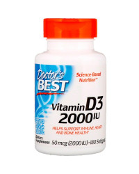 Vitamin D3 2000 IU 180 гел-капсули | Doctor's Best