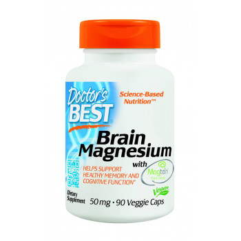 Brain Magnesium with Magtein 50 mg 90 Veggie Caps | Doctor`s Best