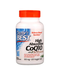 High Absorption CoQ10 with BioPerine 100 мг 120 Веге Капсули | Doctor's Best