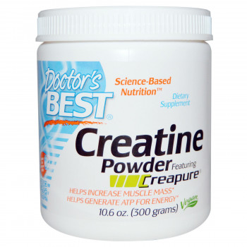 Creatine Powder Featuring Creapure 300 g I Doctor`s Best