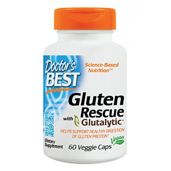 Gluten Rescue with Glutalytic 60 Veggie Caps Doctor`s Best