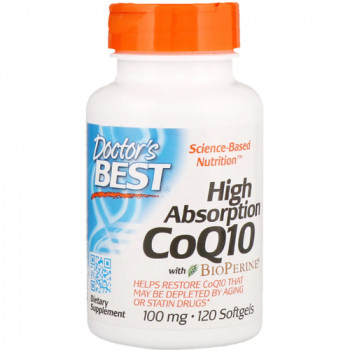 High Absorption CoQ10 with BioPerine 100 мг 120 дражета | Doctor's Best