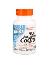 High Absorption CoQ10 with BioPerine 400 мг 60 веге капсули | Doctor's Best