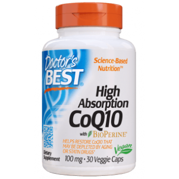 High Absorption CoQ10 100 мг 30 веге капсули | Doctor's Best
