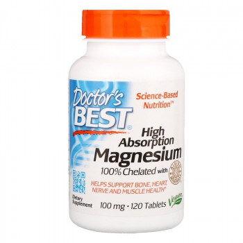 High Absorption Magnesium 100% Chelated 120/240 таблетки | Doctor's best