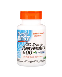 High Potency Trans-Resveratrol 600 мг 60 веге капсули | Doctor's Best