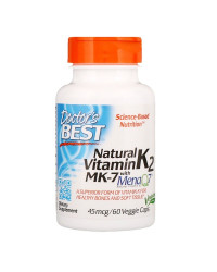 Natural Vitamin K2 45 mcg 60 Veggie Caps | Doctor's Best