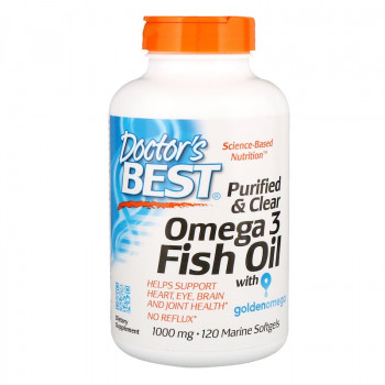 Omega 3 Fish Oil 1000 мг 120 гел-капсули | Doctor's Best