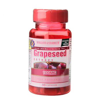 Double Strength Grapeseed Extract 100 мг 50 капсули | Holland & Barrett