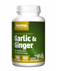 Garlic & Ginger 700 мг 100 капсули I Jarrow Formulas