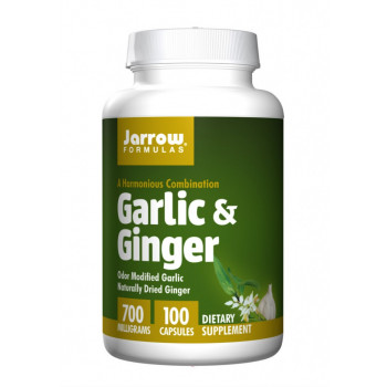 Garlic & Ginger 700 мг 100 капсули | Jarrow Formulas