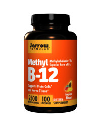 Methyl B12 Methylcobalamin 2500 mcg 100 таблетки | Jarrow Formulas