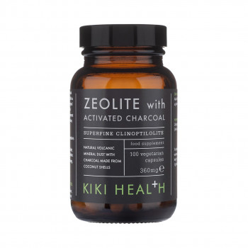 Zeolite (Зеолит) with Activated Charcoal 360 мг 100 капсули | Kiki Health