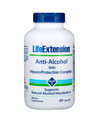 Anti-Alcohol with HepatoProtection Complex 60 капсули | Life Extension
