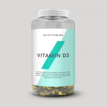 Vitamin D3 180 капсули I MYPROTEIN