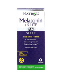 Time Release Advanced Sleep Melatonin + 5-HTP 60 таблетки | Natrol