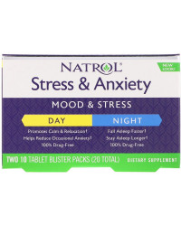 Stress & Anxiety Day + Night 10+10 таблетки | Natrol