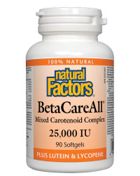 BetaCareAll® 25000 IU 90 гел-капсули | Natural Factors