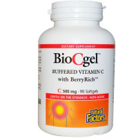 BioCgel 500 мг 90 софтгел капсули Natural Factors