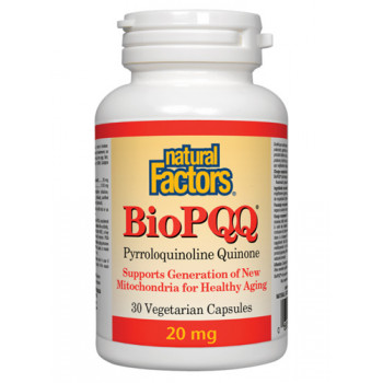 BioPQQ®Pyrroloquinoliune Quinone 20 mg 30 capsules | Natural Factors
