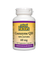 Coenzyme Q10 60 мг 120 веге капсули | Natural Factors