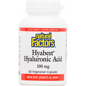 Hyabest Hyaluronic Acid 100 мг 60 веге капсули | Natural Factors