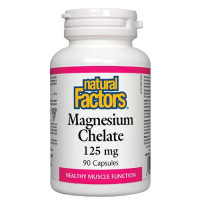 Magnesium Chelate 125 мг 90 капсули | Natural Factors