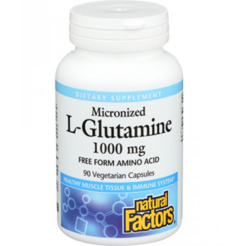 Micronized L-Glutamine 1000 мг 90 капсули | Natural Factors