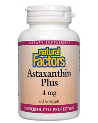 Natural Astaxanthin Plus 4 мг 60 гел-капсули | Natural Factors