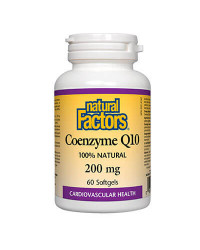 100% Natural Coenzyme Q10 200 мг 60 гел-капсули | Natural Factors