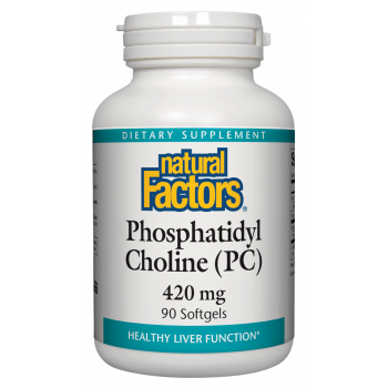 Phosphatidyl Choline (PC) 420 мг 90 гел-капсули   Natural Factors