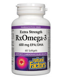 RX Omega 3 Extra Strength 1170 мг 60 гел-капсули Natural Factor