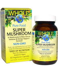 Super Mushroom Whole Earth & Sea 60 веге капсули | Natural Factors